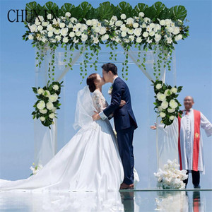 New wedding arch artificial flower decoration DIY custom simulation flower row wedding stage road lead festival photography prop