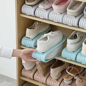 2 couches réglables en plastique antidérapant maison de rangement porte-bagages porte-chaussures étagère de chaussures en gros fournisseur livraison rapide