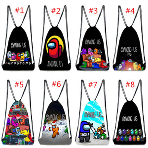 Унисекс среди нас на договорной цене в Bake Bag Bag DrawString Games Games Design Sming Bags Studio Backpacks Cartoon Среди школьной сумки для школы US School Pougher Bage
