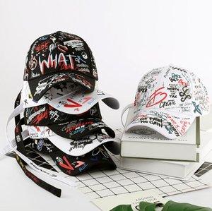 2021 New 100% Cotton Graffiti Baseball Cap for Men and Women Fashion Hats Unisex Casual Hip Hop Snapback Hat Peaked Caps Summer