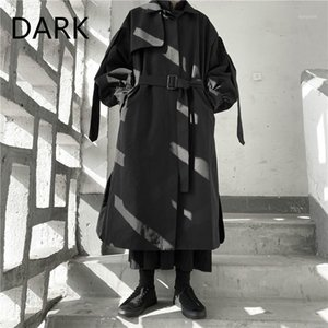 Niche Autumn And Winter Yoji Yamamoto Dark Wind 2020 Autumn And Winter Lace Up Long Coat Windbreaker1