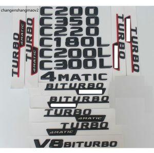 Pour Mercedes Benz C Classe C43 C63 AMG 200 C220 C260 C300 C320 C350 4Matic CDI Emblem Badge Black Lettres Emblèmes W204 W205