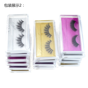 False eyelashes eye lash 3D mink eyelash natural long fake eyelash extension thick eye lashes eyelashes eye Naturally Encrypted Cross Styl