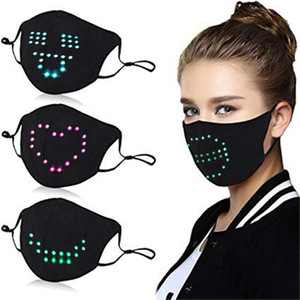 Diy Led Mask For Women Fashion Voice-activated Luminous Mask Masquerade Festival Party Face Decoration Dropshipping