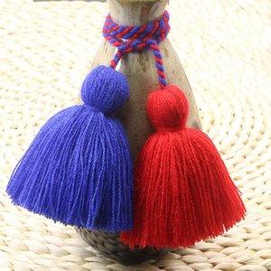 4pcs Charm Fat Tassel Fringe Pendentif Corde DIY Home Rideau Textile Artisanat Accessoires Suspending Tassels Multicolore Frange Trim H Jllvvu