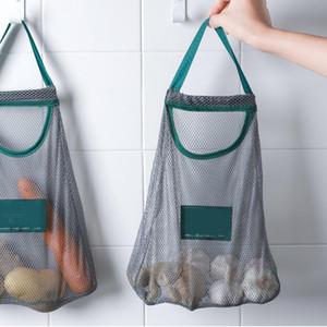 Kitchen Organization Vegetable Storage Bag Multi-purpose Creative Fruit Wall Hanging Bag Hangable Onion Garlic Kitchen Storage Bags DHD4486