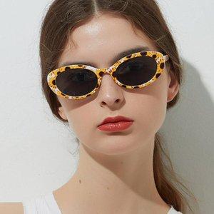 Nova Moda Fresca Sunflower Abacaxi Flor Sunglasses Mulheres Pequeno Oval Sun Óculos Feminino Lattice Shades Feminino