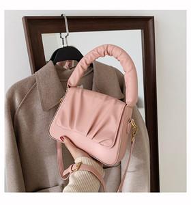 HBP New Fashion Lady Designer Doble Nube Bolsa de axilería 2021 New Bag Peligrafía Femenina Mensajero de un solo hombro Mensajero Pequeño Bolso de mano cuadrado