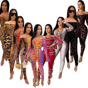 Europa e américa outono e inverno 2020 jacaré feminino macacão pele corporal roupas colar de moda manga comprida calças bodysuit