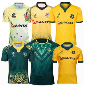 2018 2019 2021 Australie Rugby Jerseys Accueil Kangaroos Wallaby Shirt Taille S-5XL Chemise Maillot de Rugby Australie National Rugby League League