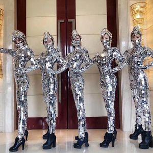 Party Show Elastic Mirror Costume Eyeglass Costume Cosplay mechanical dance props Mirror reflective
