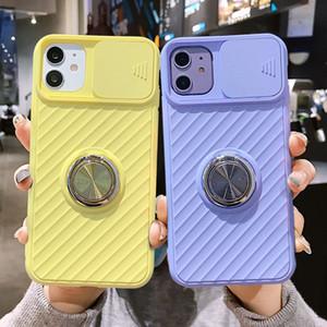 Slide Camera Protection Coque iPhone 12 Pro Max Telefono Custodie Copertina Iphone 11 11Pro Max XR XS Max x 8 7 11Pro Caso morbido anello antiurto