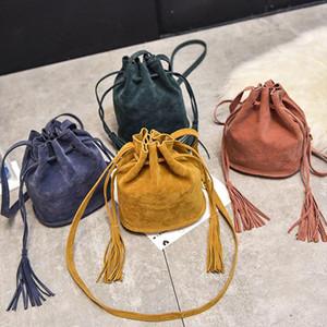 Женщины замороженные сумки мозговые сумки с кисточкой Сумки на плечо Дамские ведро Сумка Tote Drop Доставка хорошего качества