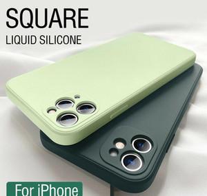 Luxury Original Square Liquid Sile Phone Case For Iphone 12 11 Pro Max Mini Xs X Xr 7 8 Plus Se 2 Slim Sof jllGGt yyysports