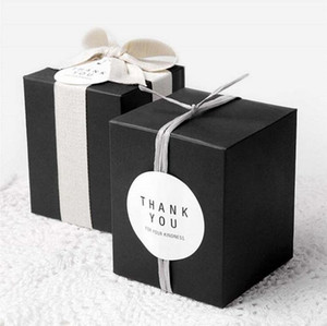 candy box bag chocolate cookie apple paper gift package for Birthday Wedding Party favor Decor supplies DIY black white khaki