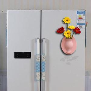 Pegatinas de jarrón de gel de sílice Sin agujero Fondo creativo Colgante Flor de flores Pequeño decoración de etiqueta de traceless Factory Venta directa 9 86HY P1