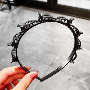 [xwen] Black Braider Pony Hairpin Haarband Unisex Hairdo Multi-Hoory Weave Stirnband Styling Werkzeug Haarschmuck Oh2067