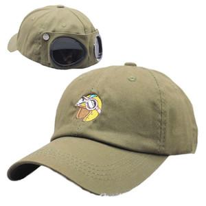 2020 новая шляпа задние очки прохладный пилотный колпачок прилив открытка горячая вышивка мультфильм бейсбольная шапка утенка крышка
