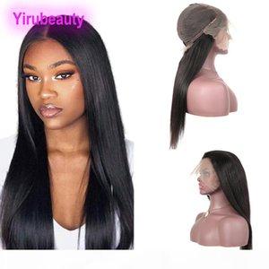 Malaysian Jungfrau Haar gerade 13x6 Spitze Frontperücken Nautrale Farbe 100% Human Haare Perücken 13 von 6 Spitze Perücke yirubeauty