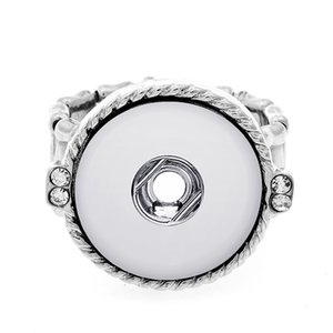 20pcs lot New Fashion Snap Jewelry Ring Flexible Adjustable 18mm Snap Button Metal Silvery Ring Party Charm Snap Button Jewelry
