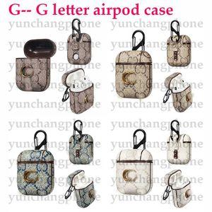 Para Apple Airpods Case Luxury PU Designer Earphone Fashion Fashion Anti Redi Hook Clip Llavero para AirPod Case 1/2 Gota Envío