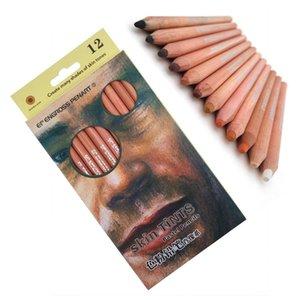 12Pcs Professional Soft Pastel Pencils Wood Skin Tint Pastel Colored Pencil 201223