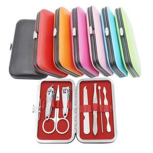 7 Цветов Ногтей для ногтей Комплект Ножницы Пинцет ушной выбор Маникюр набор ногтей маникюр набор маникюр 7 шт. Установленная вечеринка FABLE T9i00942