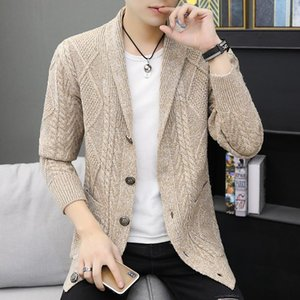 Grey Blue Khaki Women Single Breasted Cardigan Sweater For Men Korean Style Slim Knitted Sweater Man Autumn