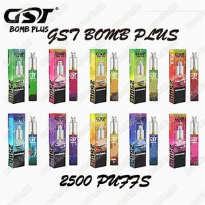 Genuine GST Bomb Plus Dispositivo de vaina desechable 1200mAh 7ml 2500 Puffs Vape Stick System para el tanque de gas GTD KP Razzo vs Puff Bar Plus Bang XXL