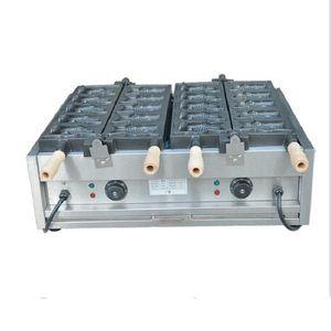Yüksek kalite !! Waffle Maker Makinesi / Taiyaki Makinesi Açık Ağız Balık Waffle Makinesi Ev Kullanımı için