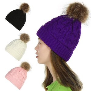 Women Fuzzy Ball Windproof Sports Solid Gifts Thickened Ear Protective Warm Winter Outdoor Comfortable Fashion Soft Knitted Hat