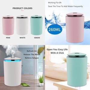 Инструменты для водоснабжения ABS ABS Mini Spray Chagible USB Mini Spray Увлажнители 3 Цветной лампы Светящиеся паромные устройства Обновить воздух Silent 10 3LF G2
