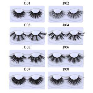 Dramatic 25mm Faux Mink False Eyelashes 1 Pair 8D Thick Long Lashes Extension Makeup Fluffies Criss-cross Handmade Eyelash
