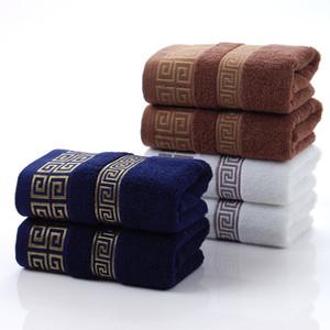 Pamuk havlu fabrika doğrudan pamuk erkek karanlık 32 hisse 110g jakarlı havlu hediye tüccar mavi kahverengi beyaz toptan