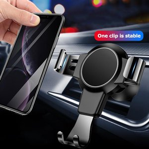 Gravity Car Phone Holder Support 4-6.4Inch Mobile Phone In Car Air Vent Mount Stand No Magnetic Universal Holder