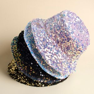 The spring new sequin fisherman hat, an elegant basin hat for European and American cross-border e-commerce, has an inner liner
