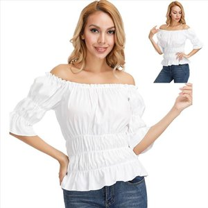 Gothic Blouse Women Off shoulder Top Slim fit Shirt Steampunk Girls Medieval Victorian Cosplay Shirt Fashion Pirate Costume