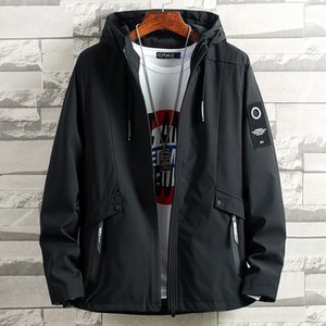 2021 Mens early autumn hooded jacket Casual Coats Bomber Jacket Slim Fashion Male Outwear Men Clothing