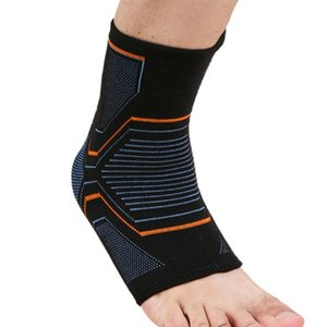 1 Pc Knitted Ankle Brace Compression Support Sleeve Elastic Breathable for Recovery Joint Pain Outdoor Sports Socks