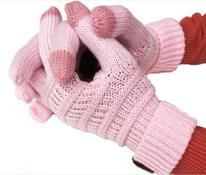 Вязание сенсорный экран перчатки емкостные перчатки женские зимние теплые шерстяные перчатки противоскользящие вязаные телевизионные перчатки 2020 рождественский подарок