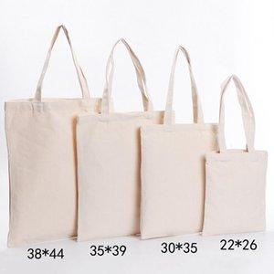 Sublimation Blanks Handbag Cotton Fabric Gift Bags Handmade Canvas Shopping Shoulder DIY Woman Bag Available Hsloa