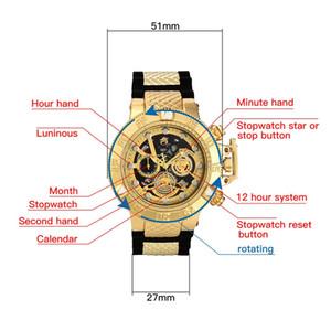 Invicta رجل كوارتز ساعة مع الدورية الاتصال الهاتفي 48mm كرونوغراف متعدد الوظائف الرياضية الساعات العسكرية relógio masculino