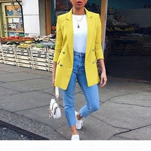 Fashion Autumn Women Blazers and Jackets Work Office Lady Suit Slim Double Breasted Business Female Blazer Coat Casual Feminino