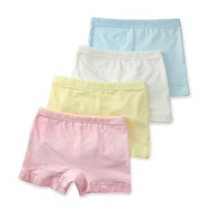 Cutyome 2-15 Yrs Baby Girls Solid Underwear 100% Cotton Lace Safety Boutique Underpanties * Children 2020 Hot Kids Briefs Shorts