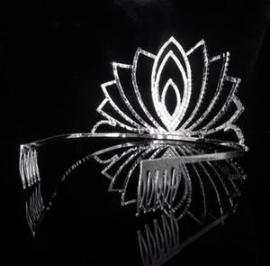 Bride wedding dress rhinestone crown hair accessories ladies simple Japanese and Korean small fresh alloy jewelry