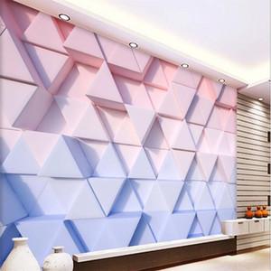 custom photo wallpaper 3D stereo geometric plaster marble TV background wall 3d stereoscopic wallpaper