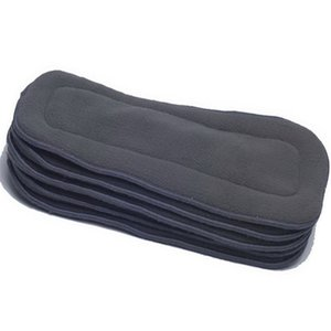 [ 60Pcs Lot ] Reusable Bamboo Charcoal Inserts Baby Cloth Diaper Mat Nappy Insert Changing Liners 5-layer thick insert Wholesale 201119