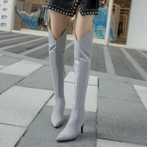 Over the knee boots women sexy 2020 winter new slim heel small tall boots pointed high heel elastic