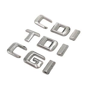 1pcs / lot ABS Livraison gratuite CDI CGI TDI Badge Chrome Autocollant Emblème