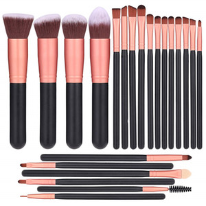 22 rose gold makeup brush set-eyebrow shadow and lip gloss brush set-beauty powder and cream-bronze concealer